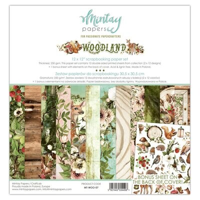 Woodland 12x12 - Mintay Papers