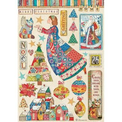 Elements A4 - Stamperia Christmas Patchwork