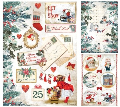 Romantic Christmas Collection A4 - Stamperia