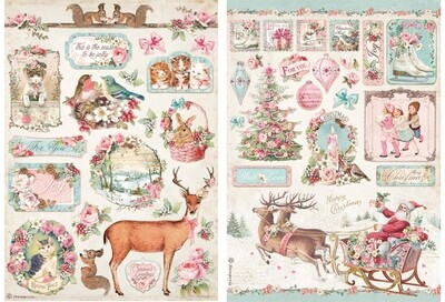 Pink Christmas Collection A4 - Stamperia