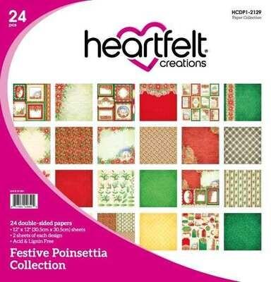 Festive Poinsettia 12x12 - Heartfelt Creations