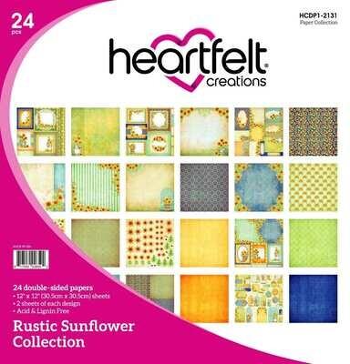 Rustic Sunflower 12x12 - Heartfelt Creations