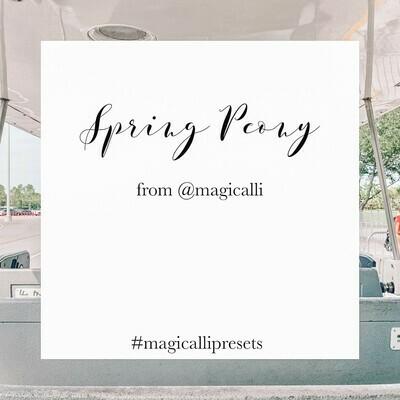 Spring Peony Preset