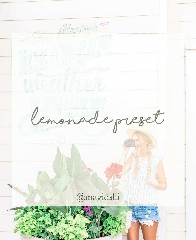 Lemonade Preset