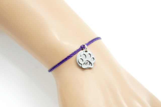Animal Kindness Paw Print and AKF Token Bangle Bracelets (2 Charms)