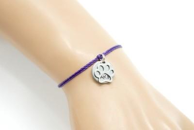 Animal Kindness Paw Print and AKF Token Bangle Bracelets (2 Charms)