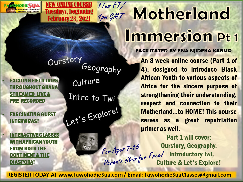 MOTHERLAND IMMERSION PT. 1 COURSE