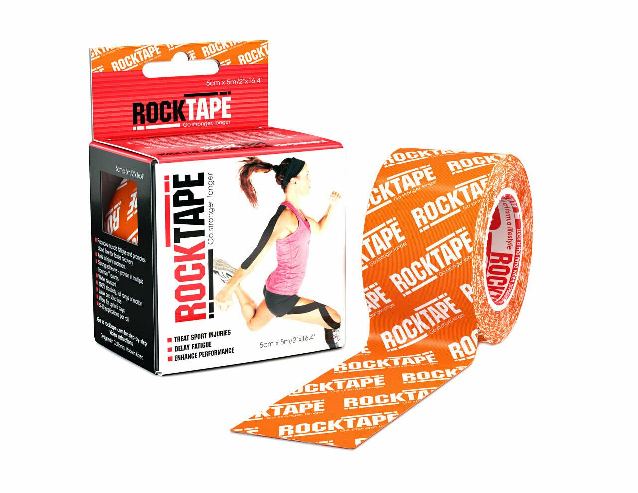 RockTape, 5см×5м, оранжевый лого