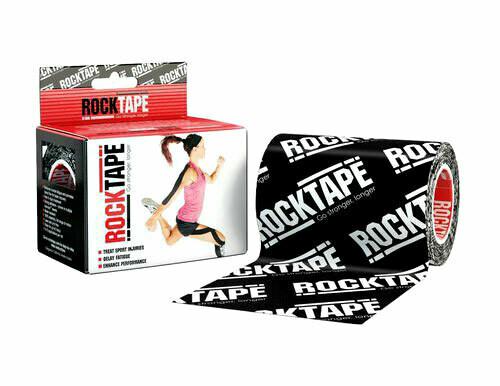 RockTape, 10см×5м, черный лого