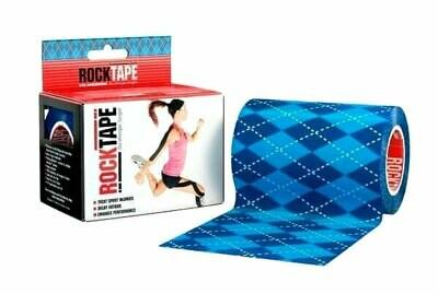 RockTape, 10см×5м, синий узор