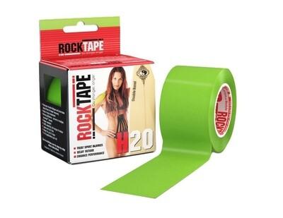 RockTape H2O, 5см×5м, лаймо-зеленый