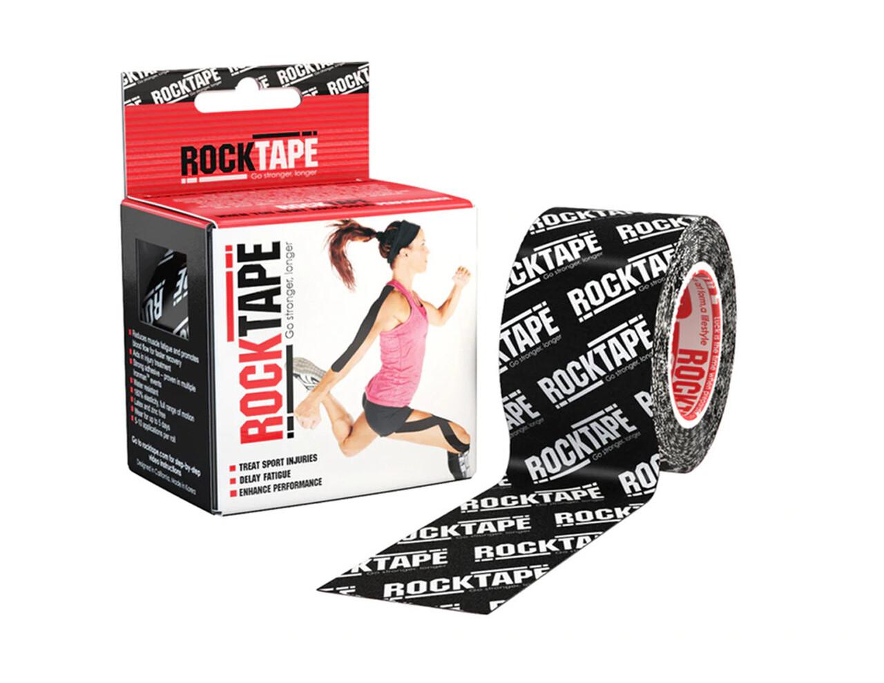 RockTape, 5см×5м, черный лого