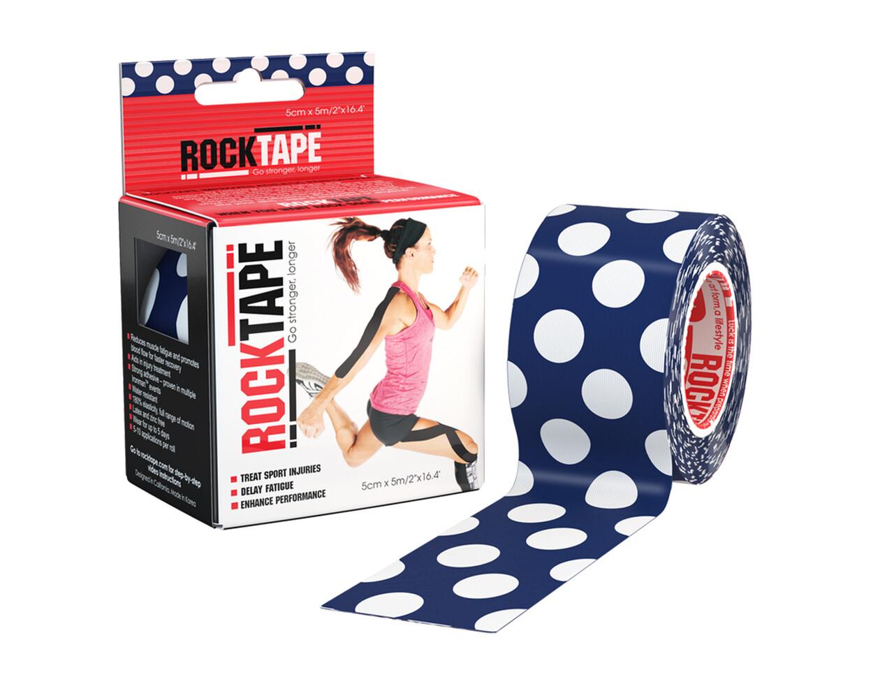 RockTape, 5см×5м, Polka Dot