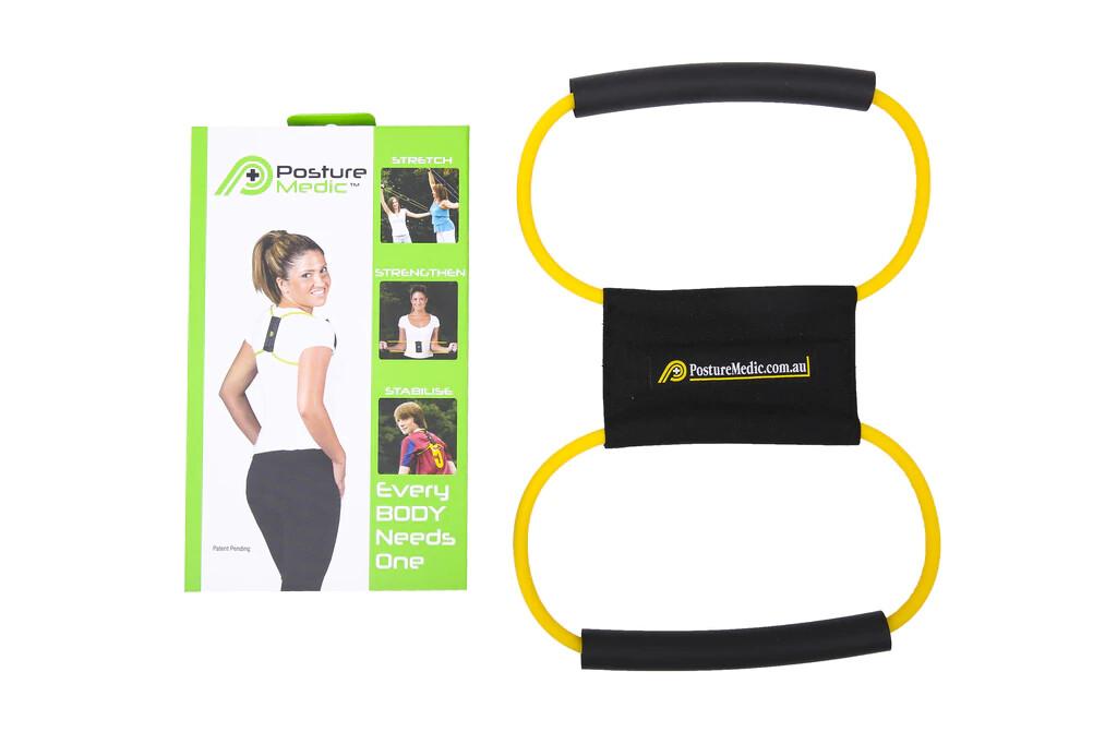 Корректор-эспандер Posture Medic (L, желтый)