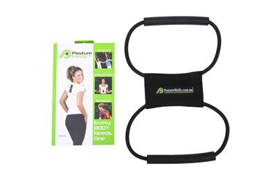 Корректор-эспандер Posture Medic (XL, черный)