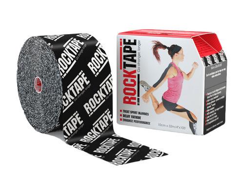 RockTape, 10см×32м, черный логотип