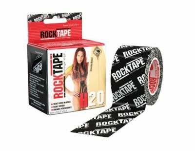RockTape H2O, 5см×5м, черный логотип