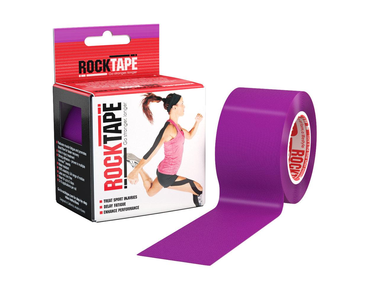 RockTape, 5см×5м, фиолетовый