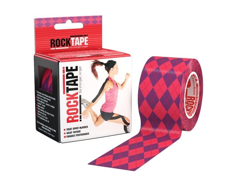 RockTape, 5см×5м, Pink Argyle