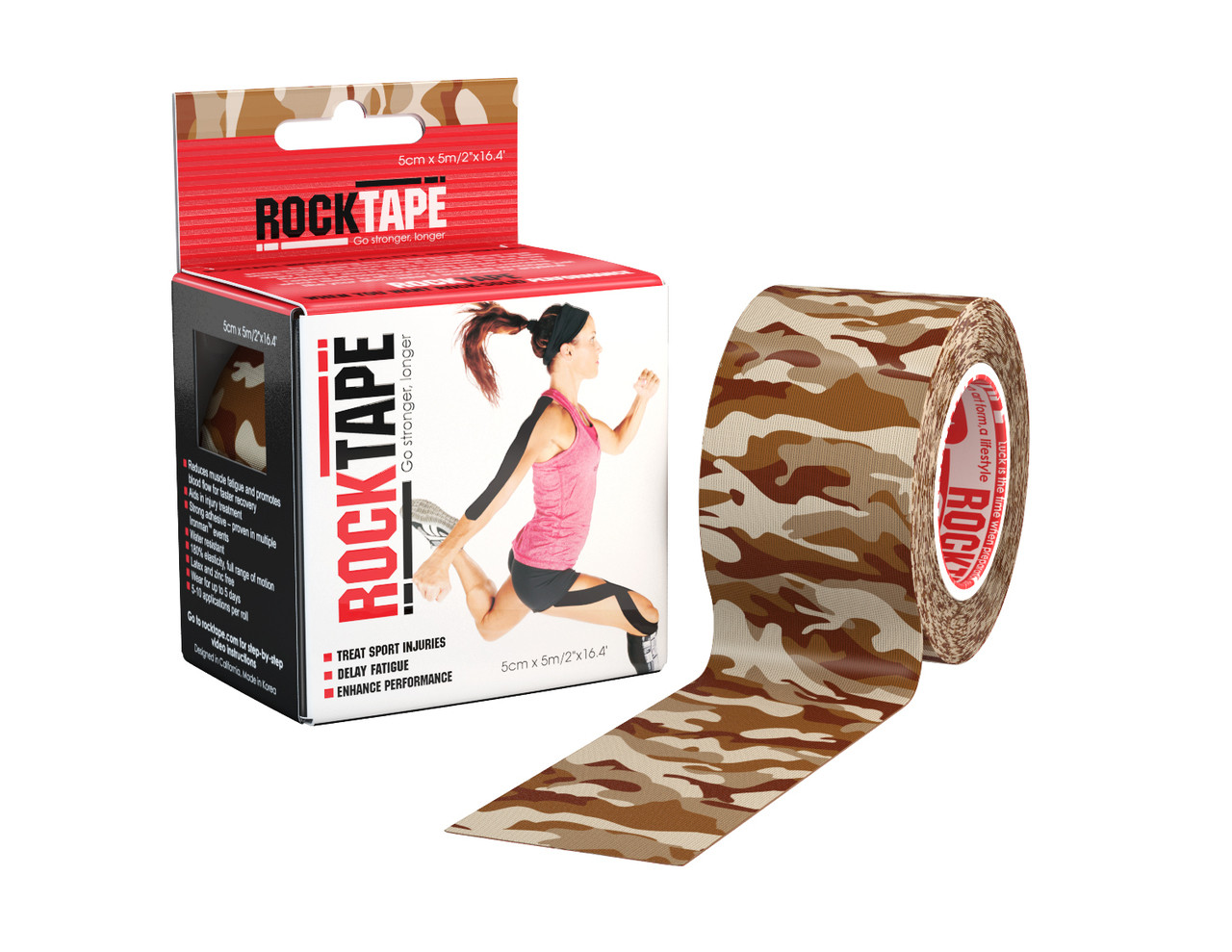 RockTape, 5см×5м, Brown Camouflage