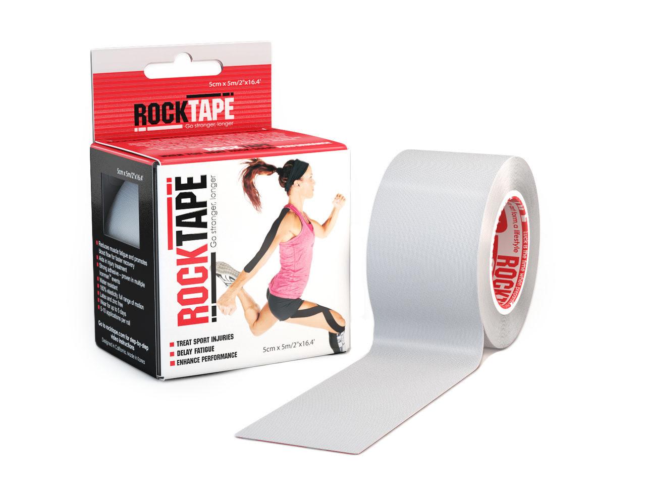 RockTape, 5см×5м, серый