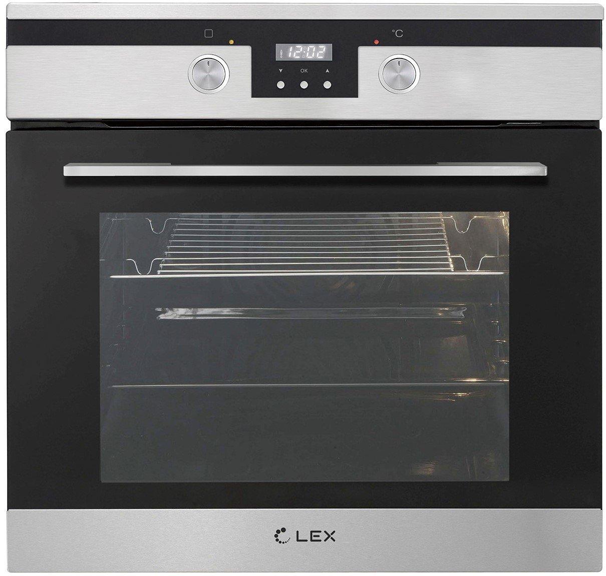 Lex EDP 092 IX стекло черное/нержавеющая сталь