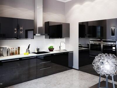 Кухня | Акрил | Lemark | Черный