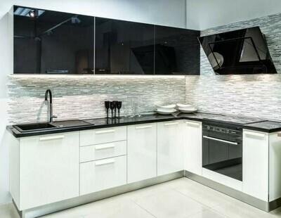 Кухня | Акрил | Lemar | Белый Черный