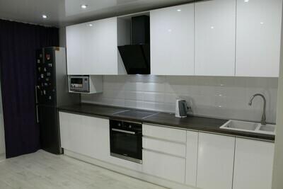 Кухня | Пленка | Интегра | Белый глянец