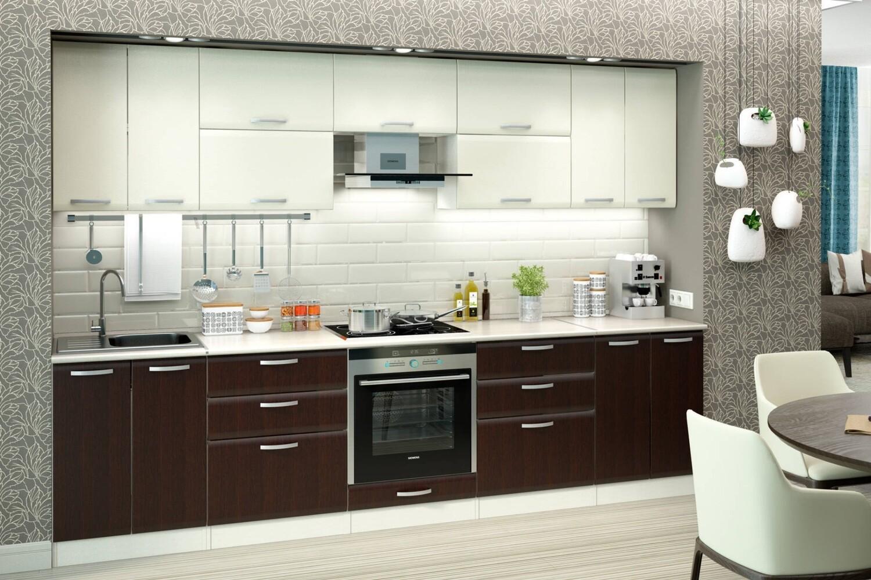 Кухня | Пленка | Мат | Белый Венге