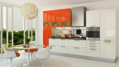Кухня | Пленка | Глянец | Белый апельсин