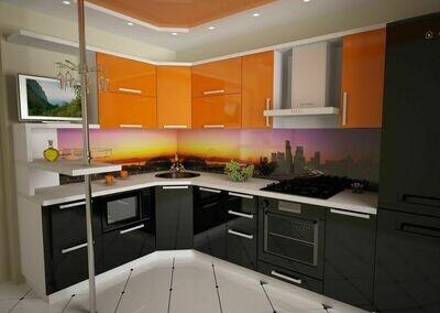 Кухня | Пленка | Глянец | Черный апельсин