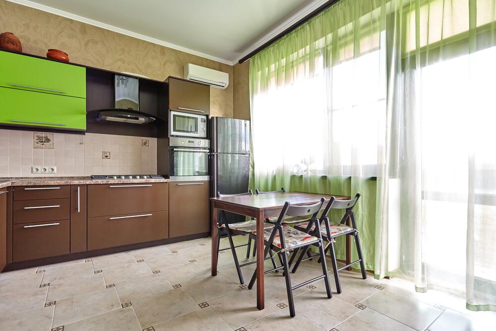 Кухня | Пленка | Мат | Коричневый зеленый
