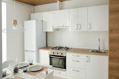 Кухня | Пленка | Глянец | Белый 4