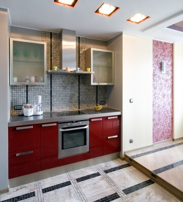 Кухня   Пленка   АГТ   Красный