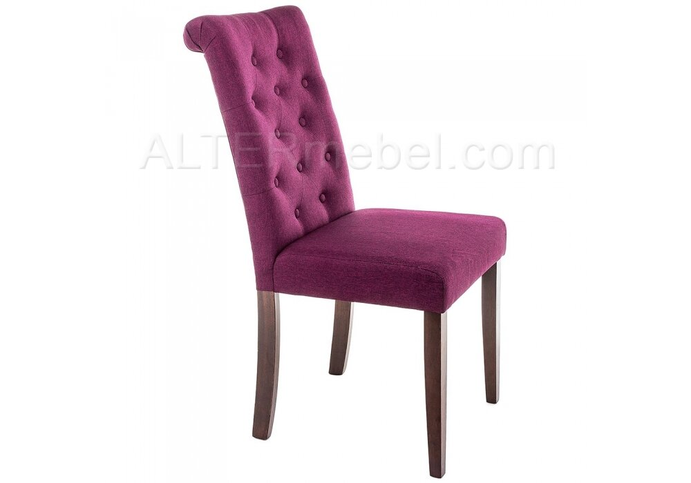 Amelia dark walnut / fabric purple