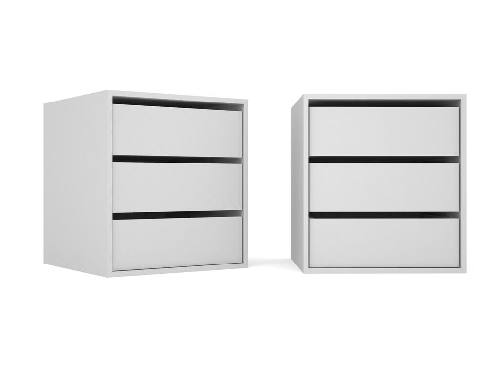 Ящики в шкаф-купе без ручек