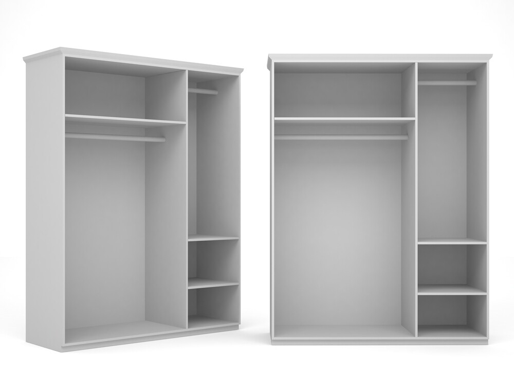 Корпус шкафа для двух дверей ассиметрия