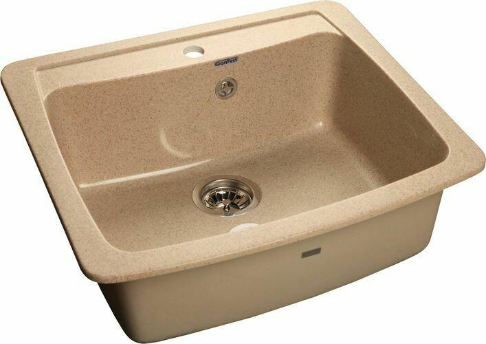Кухонная мойка Granfest Standart GF-S605, Песочный, разм. 605х510