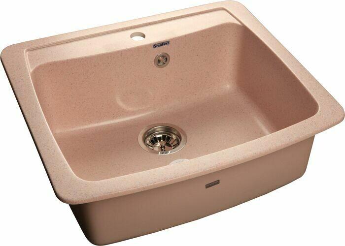 Кухонная мойка Granfest Standart GF-S605, Розовый, разм. 605х510