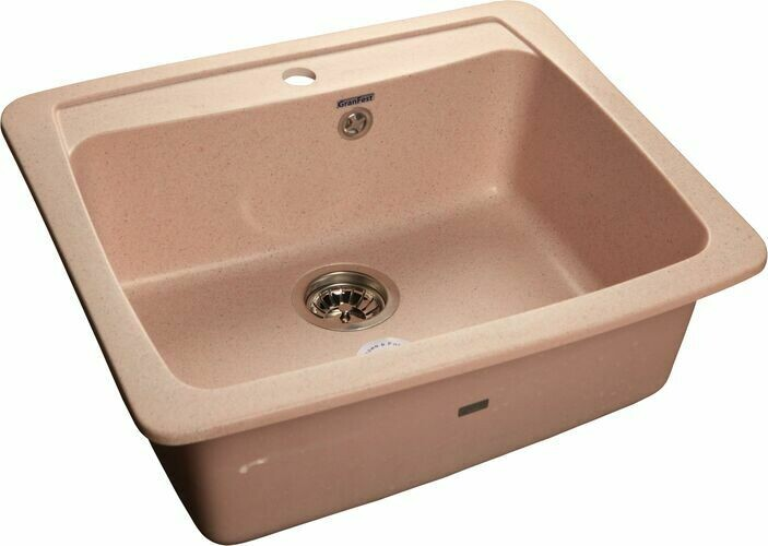 Кухонная мойка Granfest Standart GF-S605, Светло-розовый, разм. 605х510