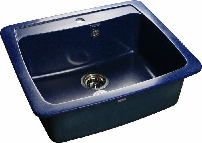 Кухонная мойка Granfest Standart GF-S605, синий, разм. 605х510
