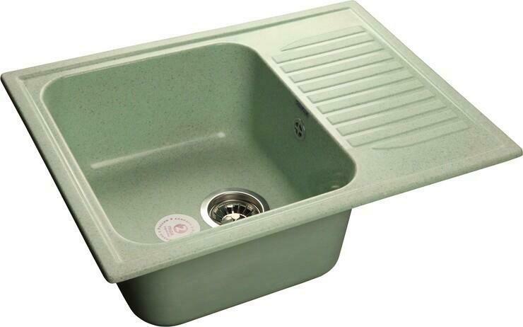 Кухонная мойка Granfest Standart GF-S645L, Салатовый, с крылом, разм. 645х500