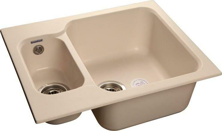 Кухонная мойка Granfest Standart GF-S615K, Белый, разм. 615х500