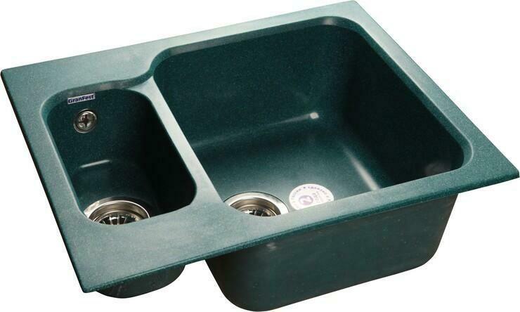 Кухонная мойка Granfest Standart GF-S615K, Зеленый, разм. 615х500