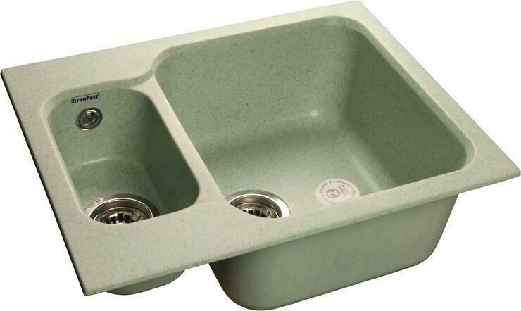 Кухонная мойка Granfest Standart GF-S615K, Песочный, разм. 615х500