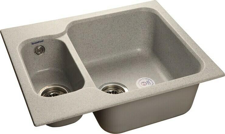 Кухонная мойка Granfest Standart GF-S615K, Серый, разм. 615х500