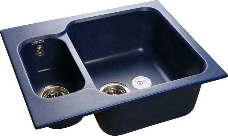 Кухонная мойка Granfest Standart GF-S615K, Синий, разм. 615х500