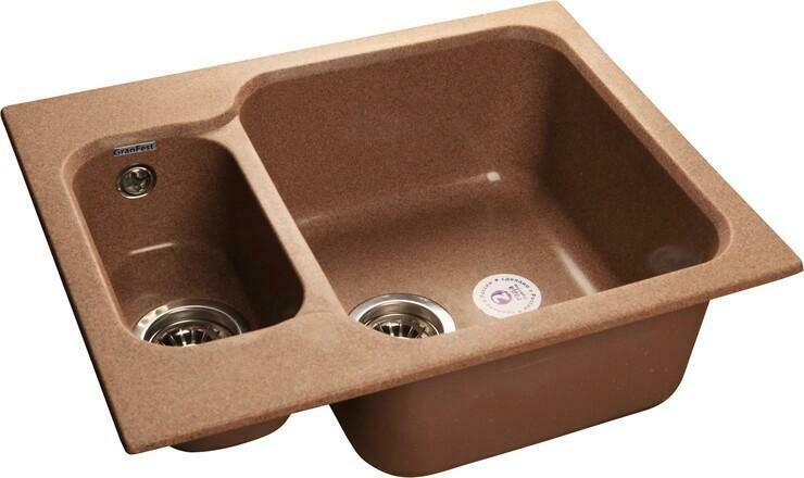 Кухонная мойка Granfest Standart GF-S615K, Терракот, разм. 615х500