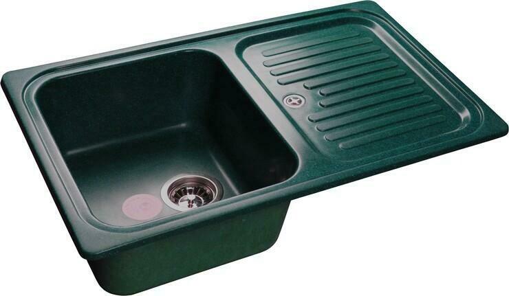 Кухонная мойка Granfest Standart GF-S780L, Зеленый, с крылом, разм. 780х500